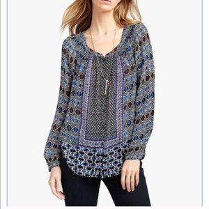 Lucky Brand Gypsy Ikat Top